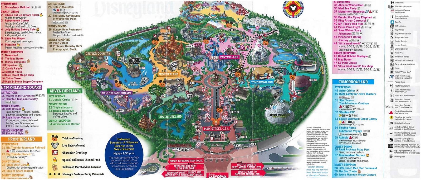 Disneyland Halloween Map