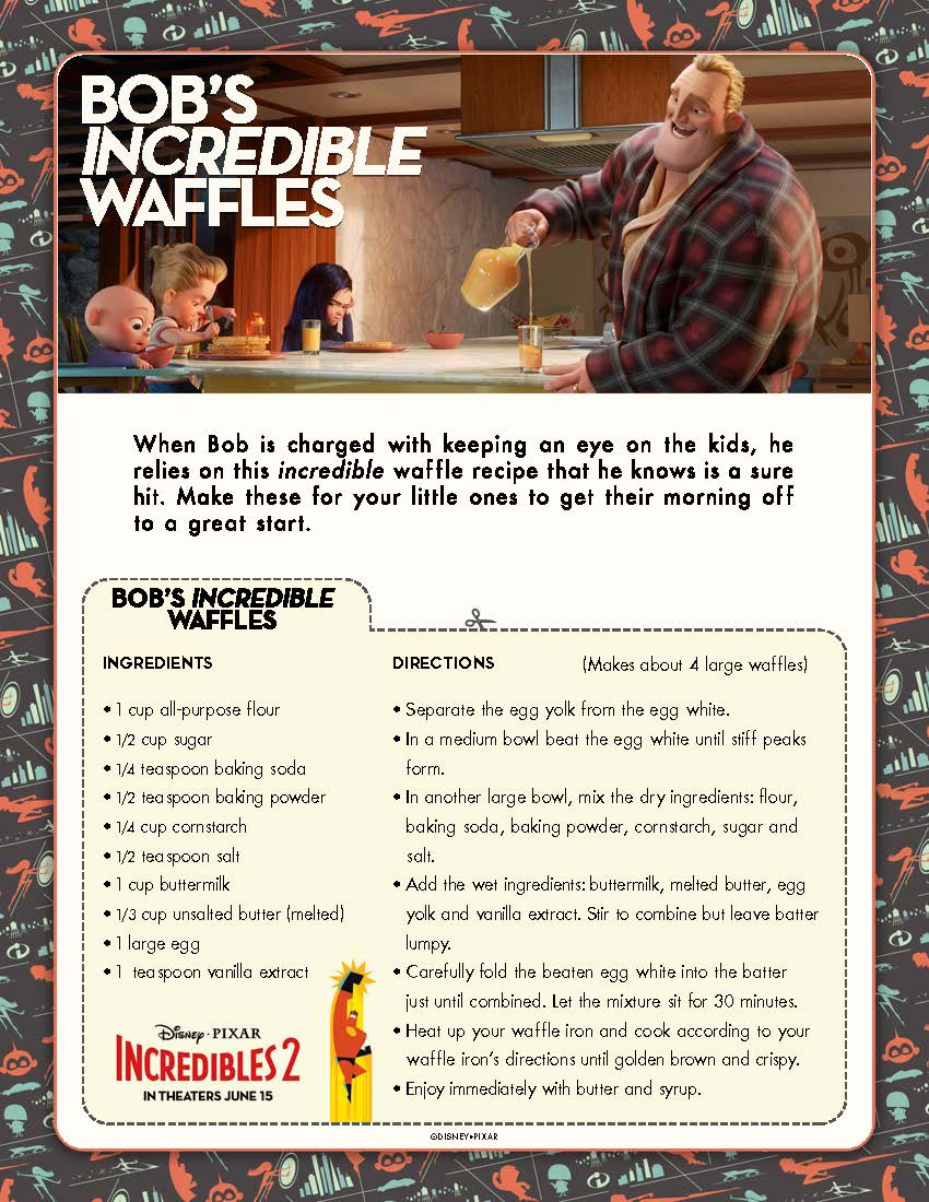 Bob Incredible Waffle Recipe
