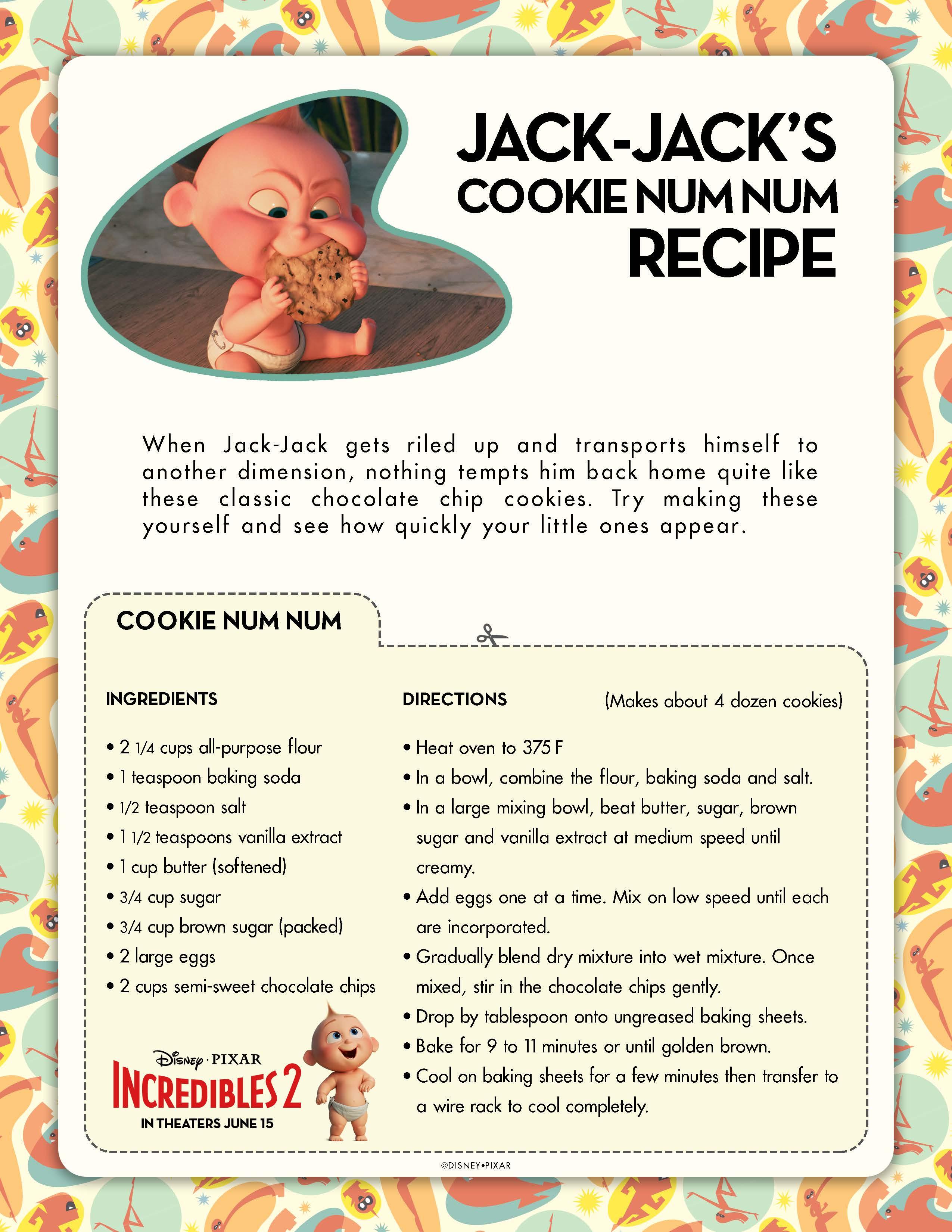 Jack Jack's Cookie Recipe