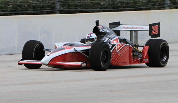 William Perry Driving an IndyCar