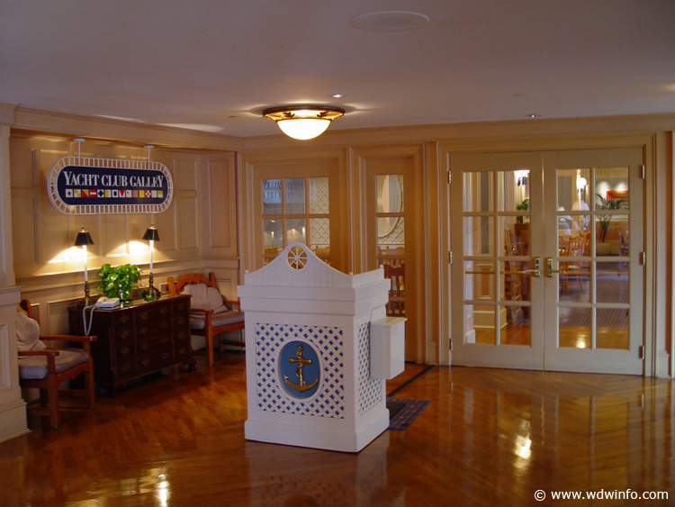 Disney Yacht Club Room Service Menu