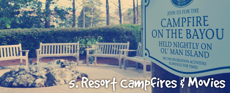 Campfires and Movies at Disney Resorts