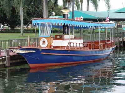 disney world water launch boat