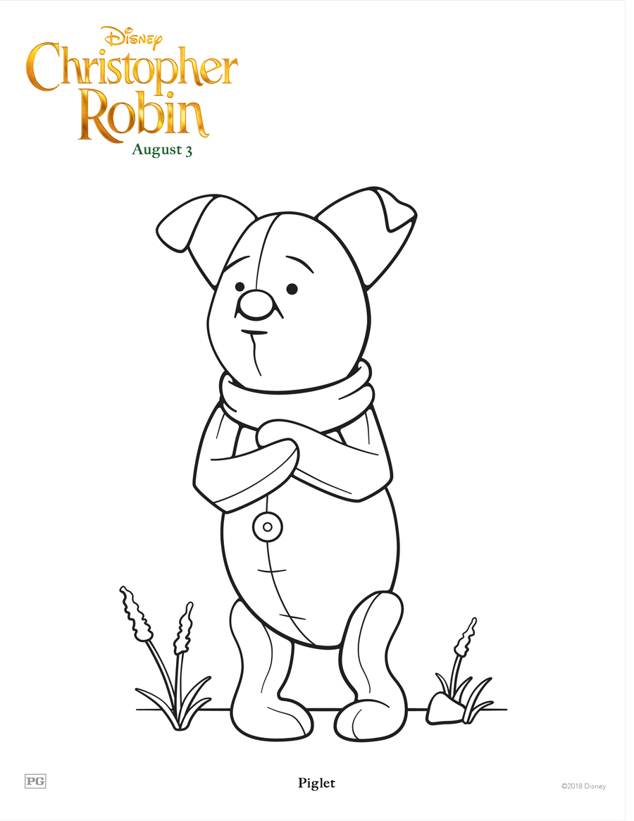 Printable Coloring and Activity Sheets from Disney\'s \'Christopher Robin\'