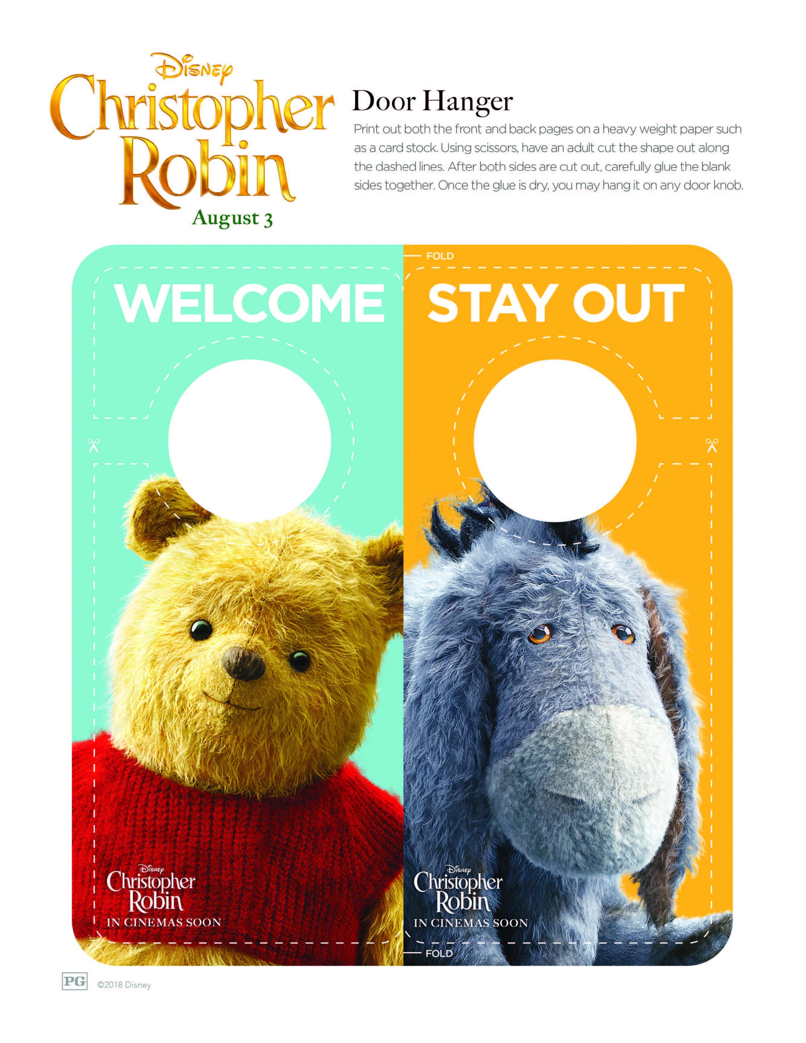 Christopher Robin Door Hangers