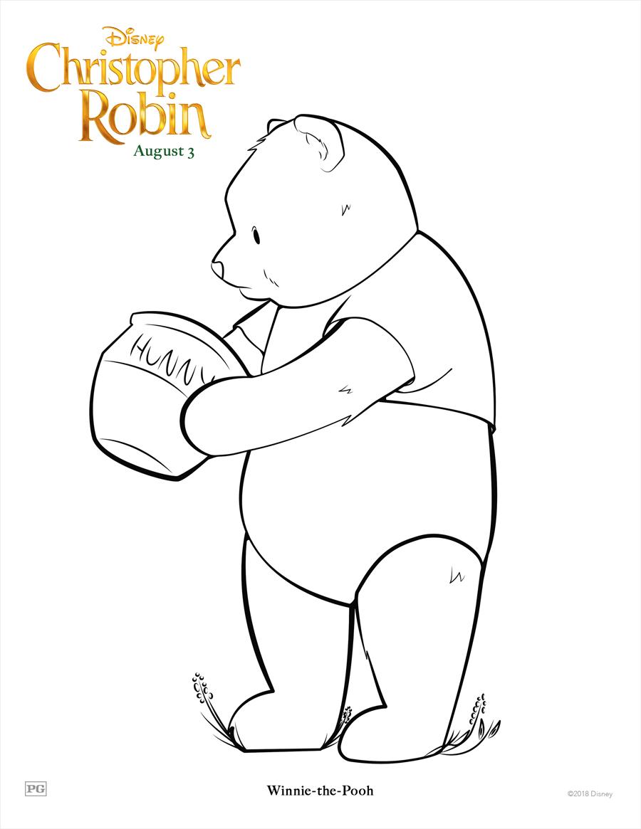 Pooh Coloring Sheet