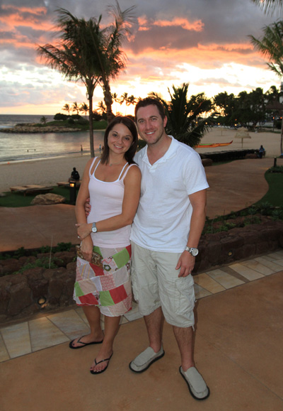 Corey and Julie Martin at Aulani Resort