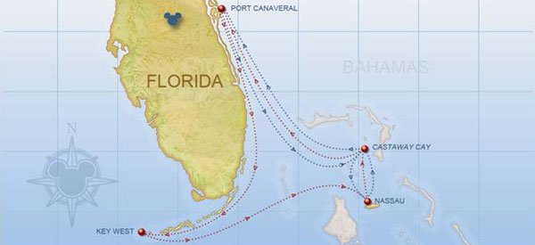 5-Night Bahamas Itinerary Map