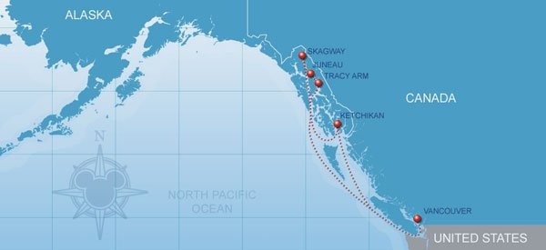 Alaskan Disney Cruise Line Vacations Disney Cruises To Alaska