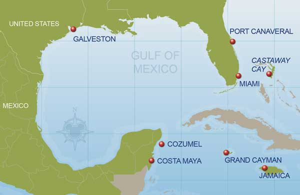 7 Night Western Caribbean Disney Cruise Map