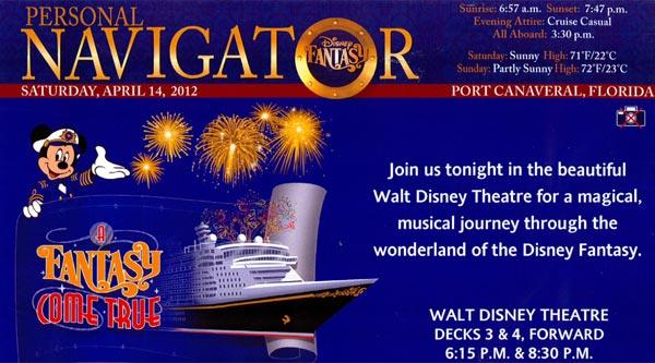 Disney Cruise Line Stateroom Navigators Personal Navigators
