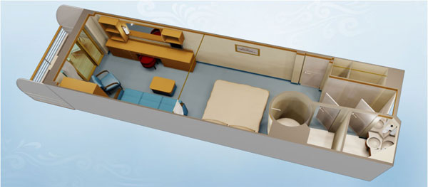 Disney Cruise Line Staterooms Deluxe Family Oceanview