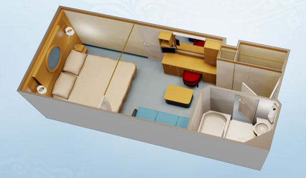 Stateroom Layout Provided By Dreams Unlimited Travel Standard Inside
