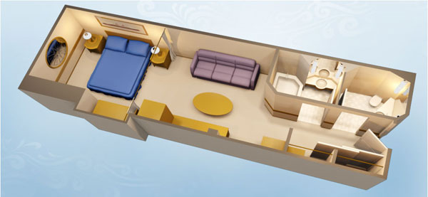 Stateroom Layout Provided By Dreams Unlimited Travel Deluxe Inside