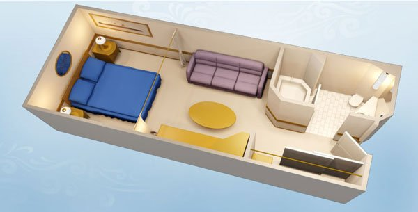 Disney Cruise Line Staterooms Standard Inside Stateroom