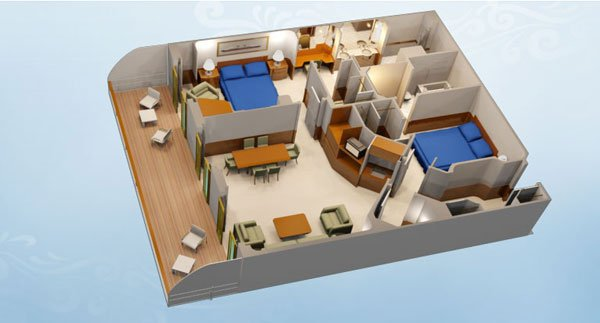 Concierge 2-Bedroom Suite with Verandah