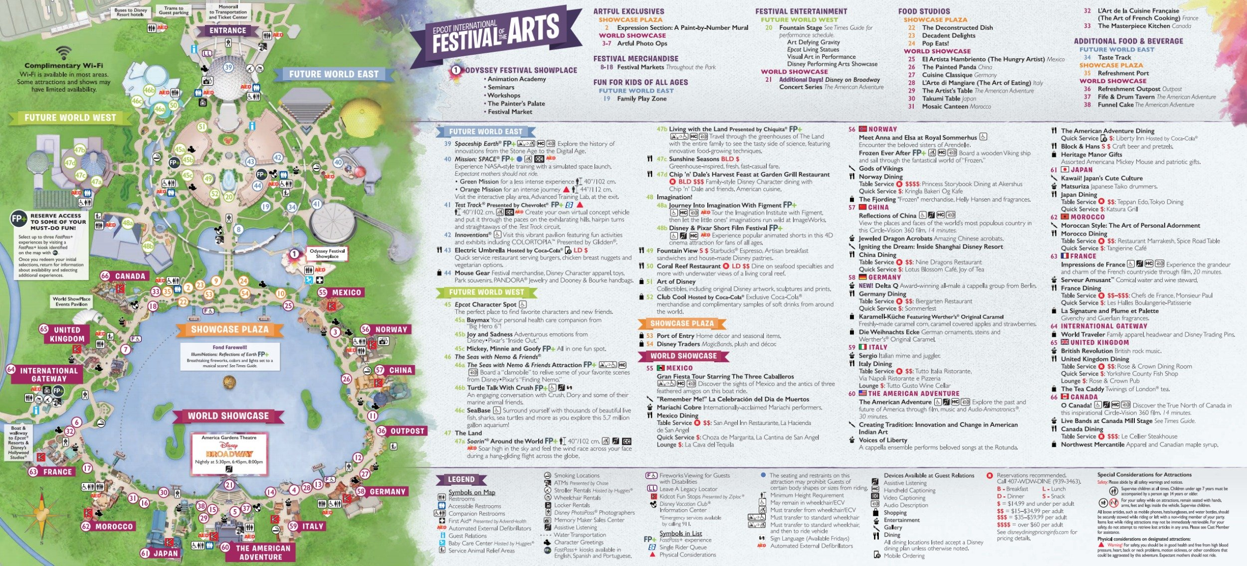 Epcot International Festival of the Arts Map 2018