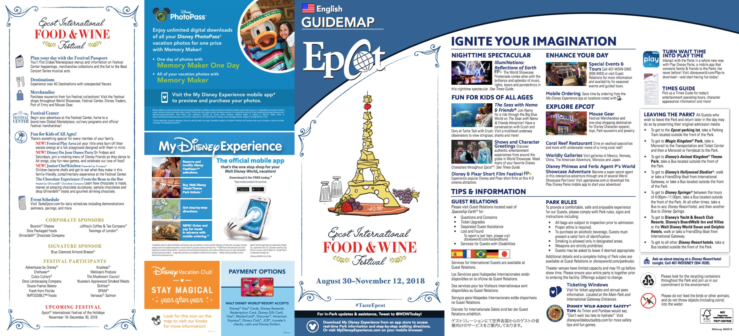 Epcot Food And Wine Festival 2018 New Arrival Voucher Map 100k Exp 31 Des 2017
