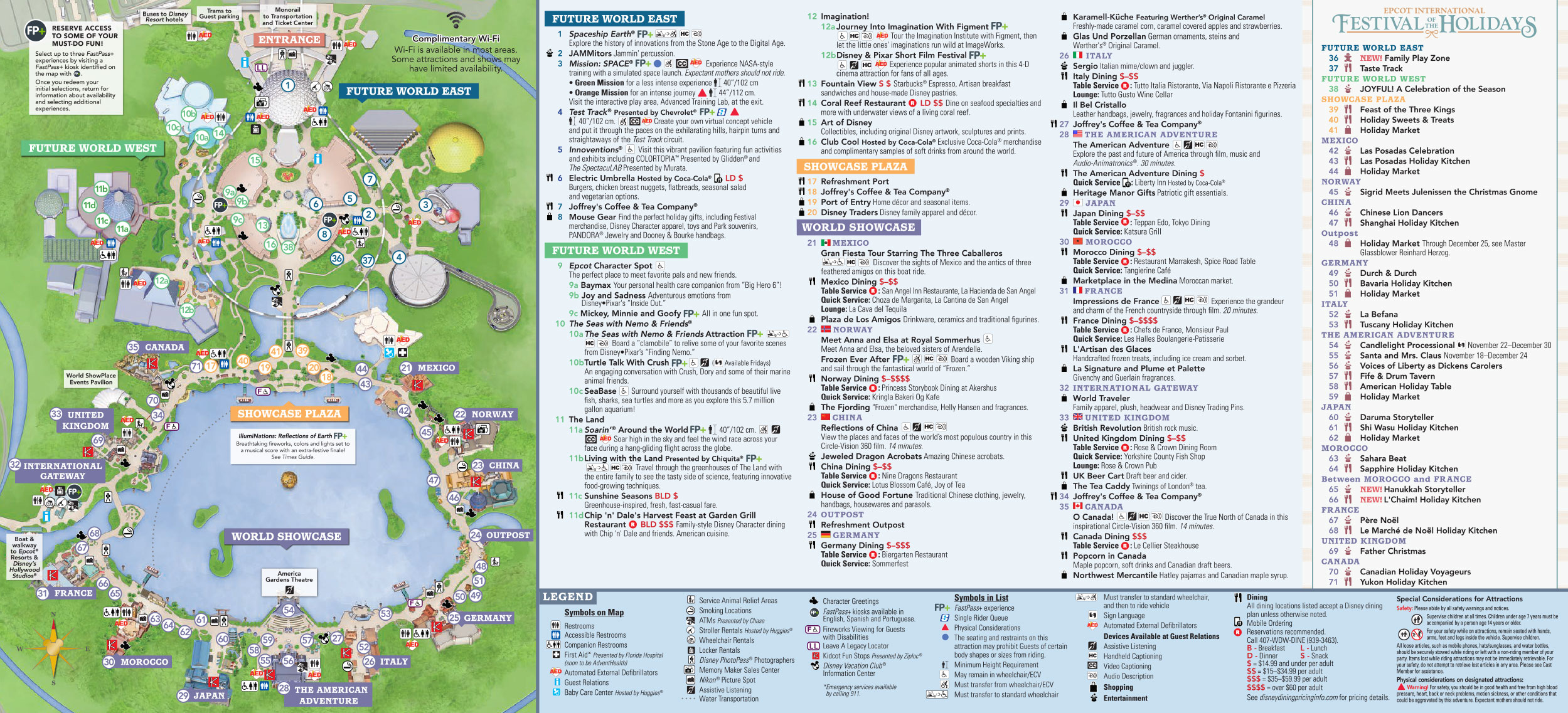 This is a picture of Soft Printable Epcot Map