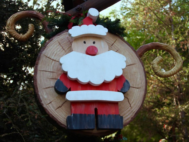 Inspirational At California Adventure Santa greets guests inside the Redwood Creek Challenge Trail