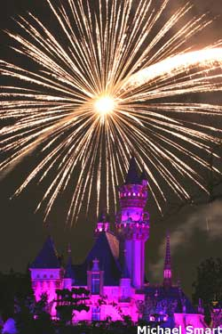 See the fireworks at Disneyland Theme Park