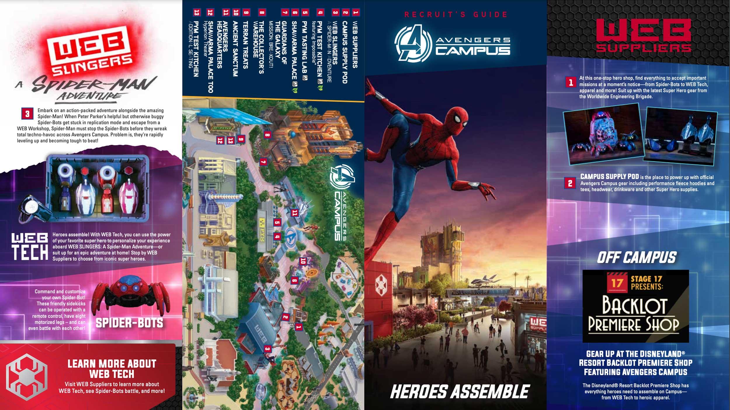Disney California Adventure Avengers Campus Map