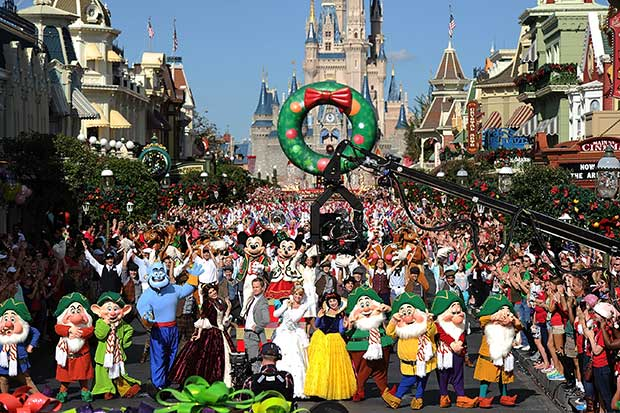 disney parks unforgettable christmas celebration parade taping