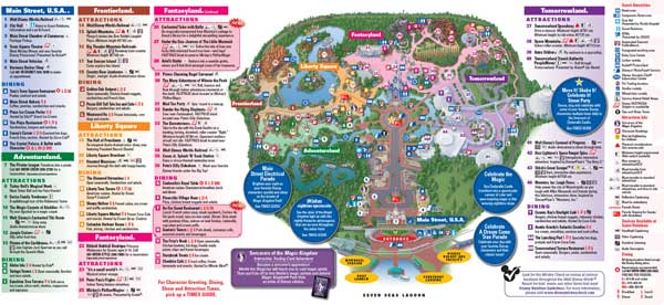 Magic Kingdom Map 2015 Orlando Magic Kingdom Park Map