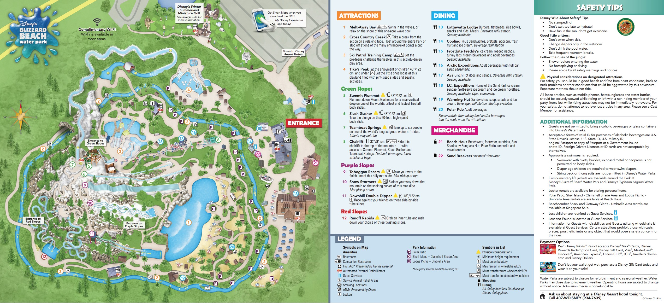 Disney S Blizzard Beach Water Park Map
