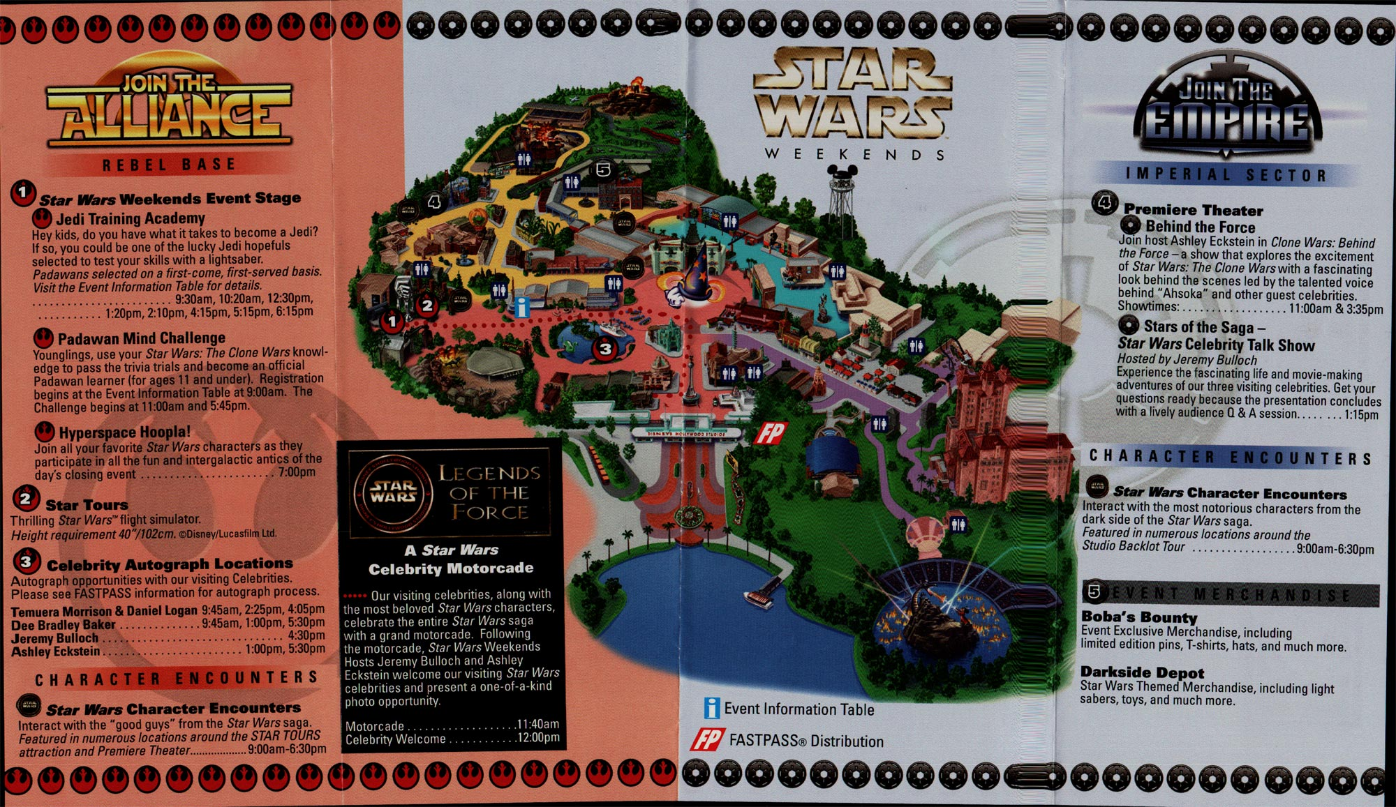 Star Wars Weekends Map