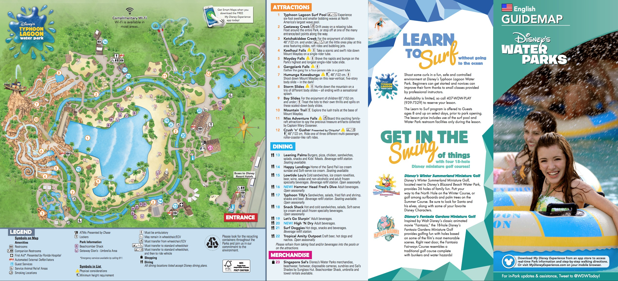 Click Here for a list of Disney Theme Park Maps | Typhoon Lagoon