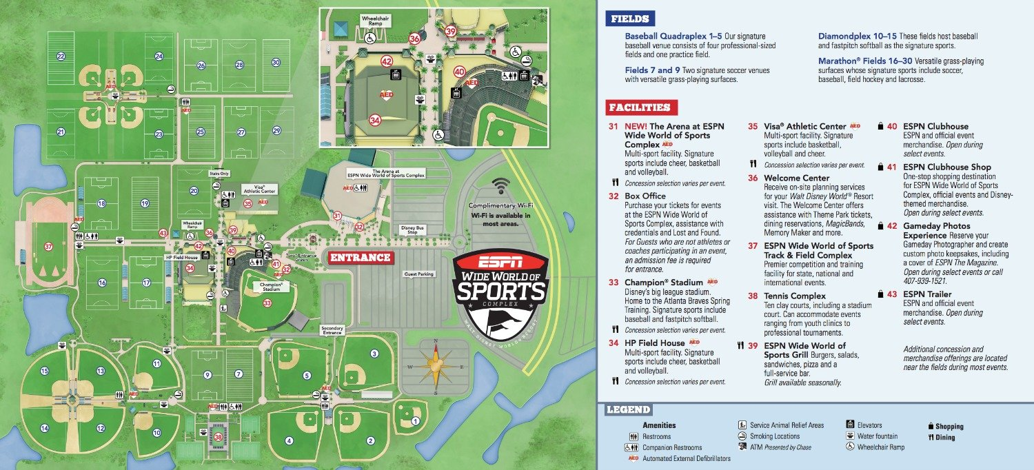 Disney's Wide World of Sports map