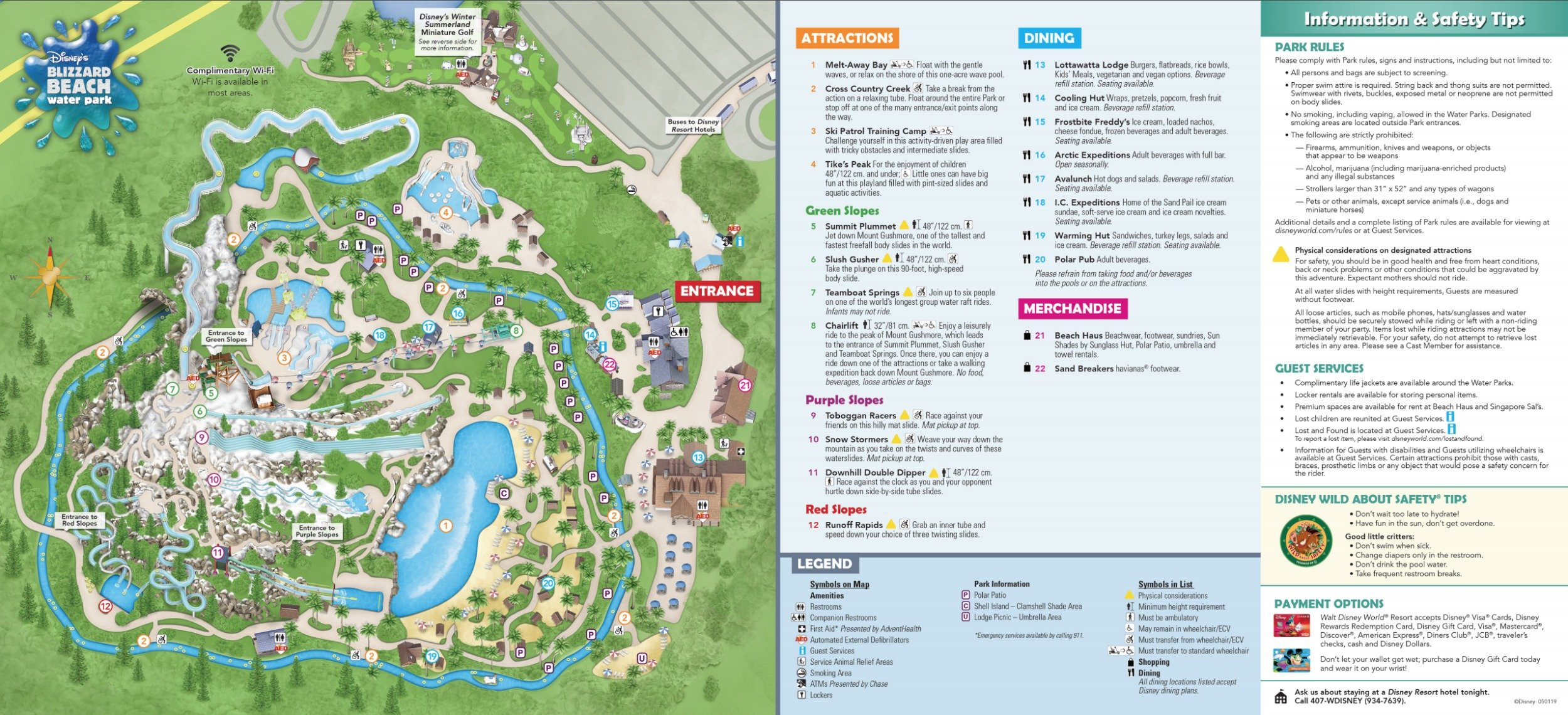 map of blizzard beach orlando Disney S Blizzard Beach Water Park Map map of blizzard beach orlando
