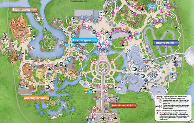 Disney maps and maps of disney theme parks resort maps magic kingdom park map gumiabroncs Choice Image