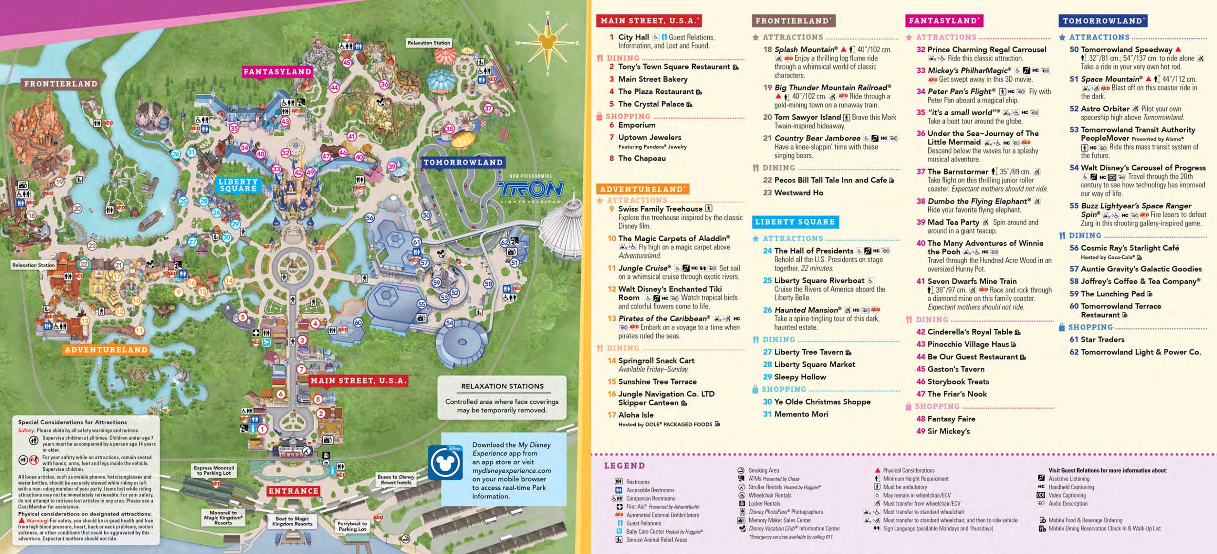 image regarding Printable Magic Kingdom Map called Magic Kingdom Park Map - Walt Disney World-wide