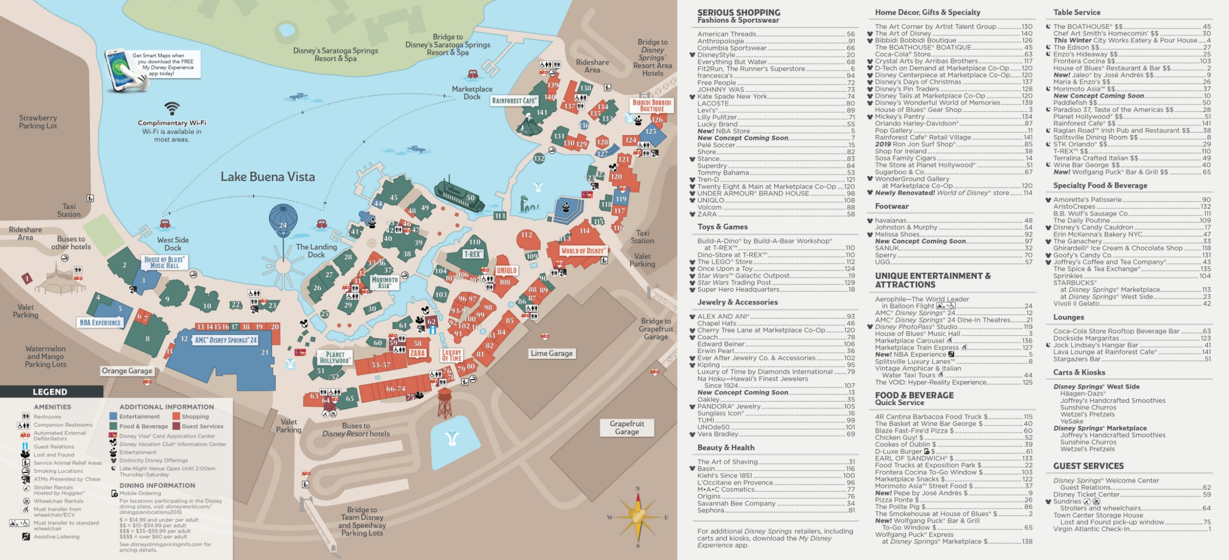 graphic about Printable Disney Maps called Disney Springs Map - Walt Disney World wide