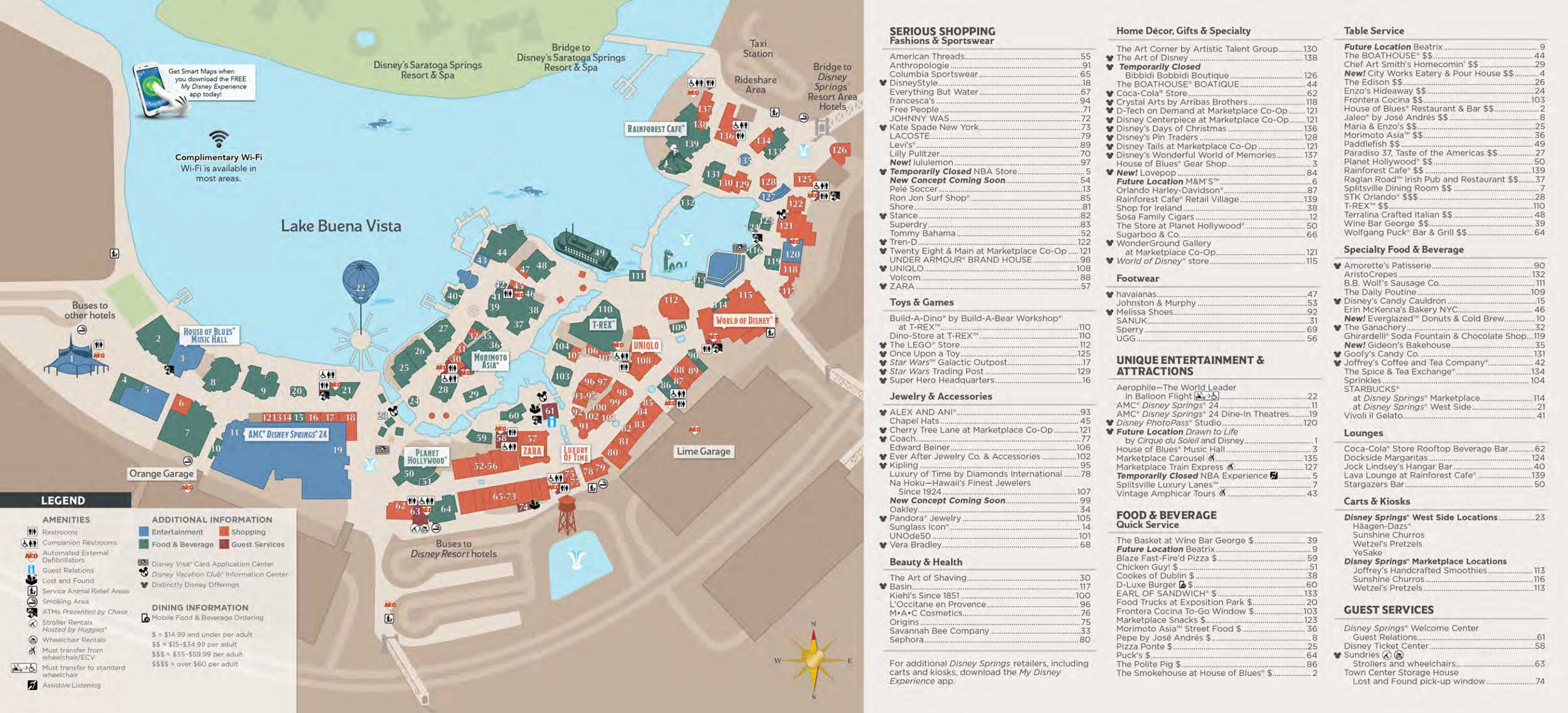 Disney Springs Map - Walt Disney World