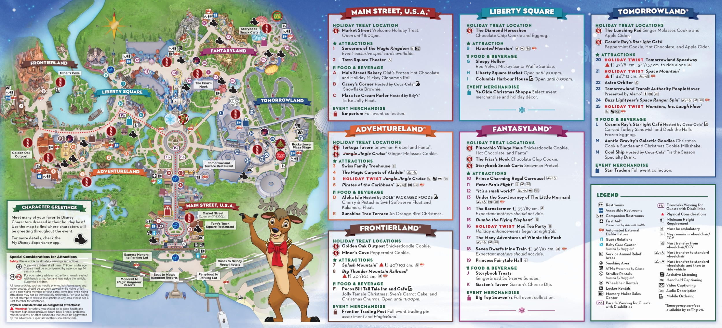 Mickey\'s Very Merry Christmas Party Map 2019 - Walt Disney World
