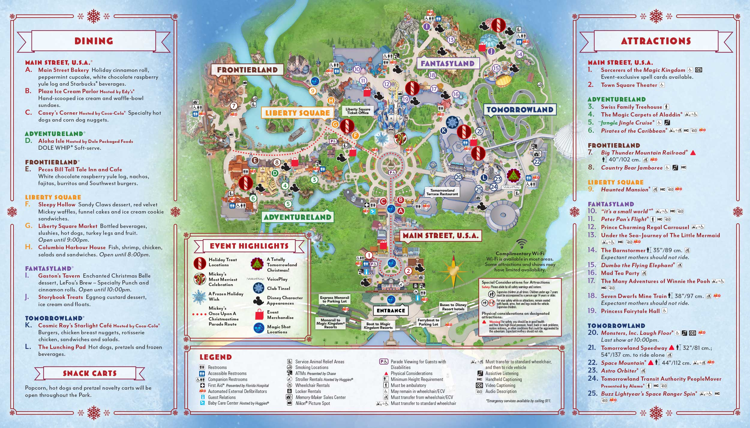 mickeys very merry christmas party map - Mickeys Very Merry Christmas