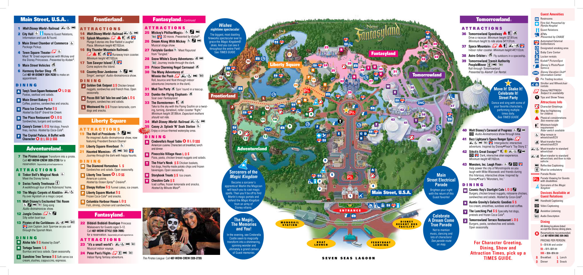 Magic Kingdom Map 2015 Orlando Magic Kingdom Map | Maps Plaza