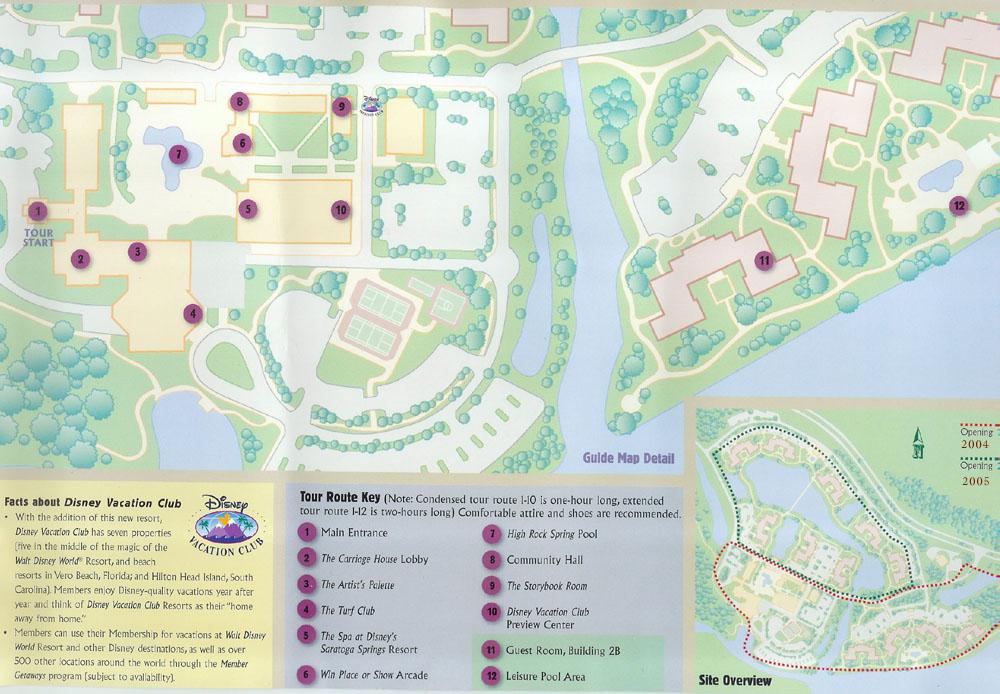 0 Tour Map. Saratoga Springs Resort   Spa Photos   0 Tour Map