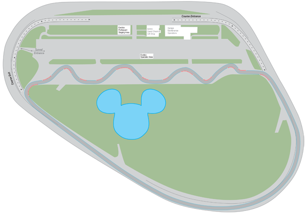 Exotic Driving Experience at Walt Disney World Speedway track