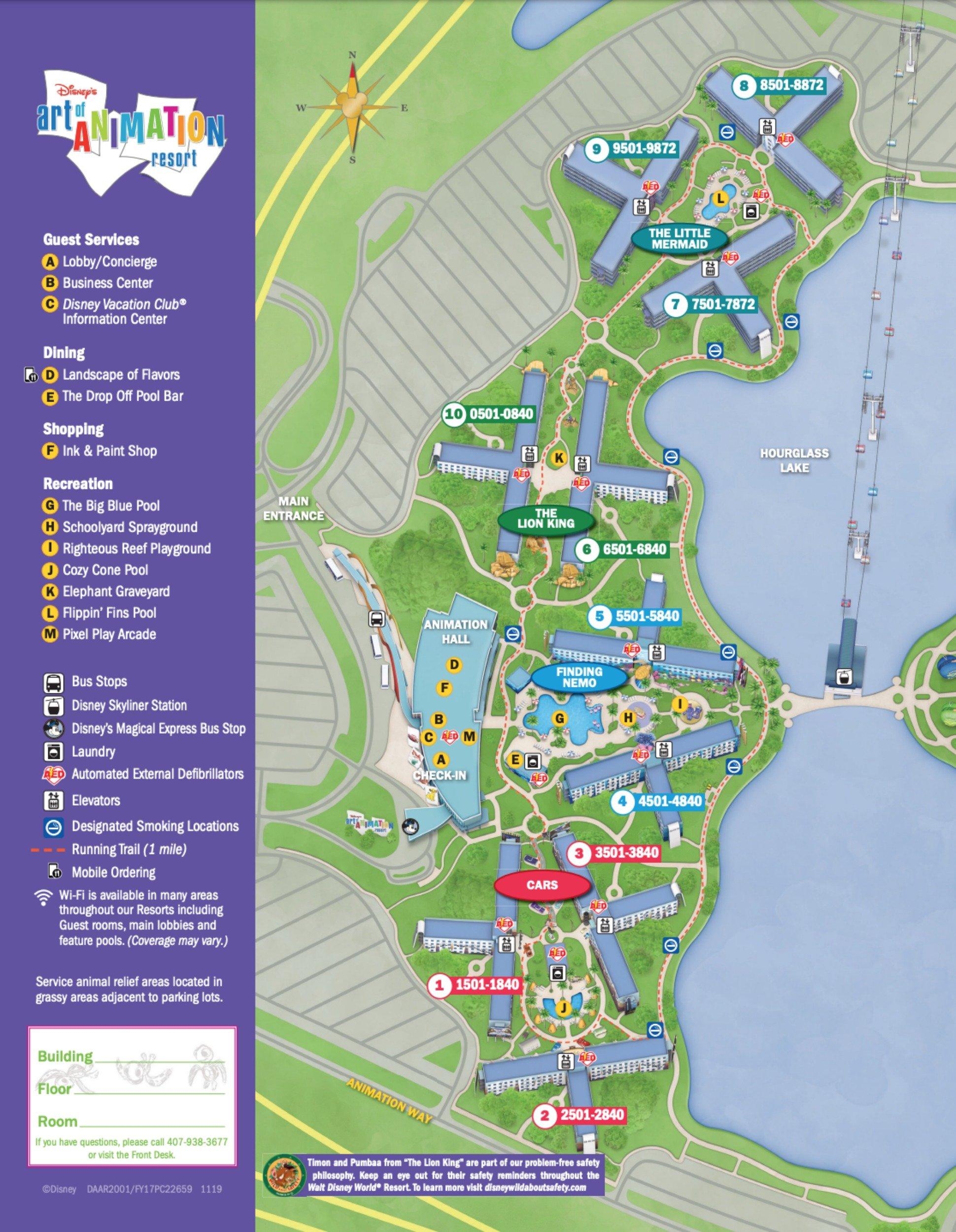 Image Result For Map Of Disney World Art Of Animation Resort