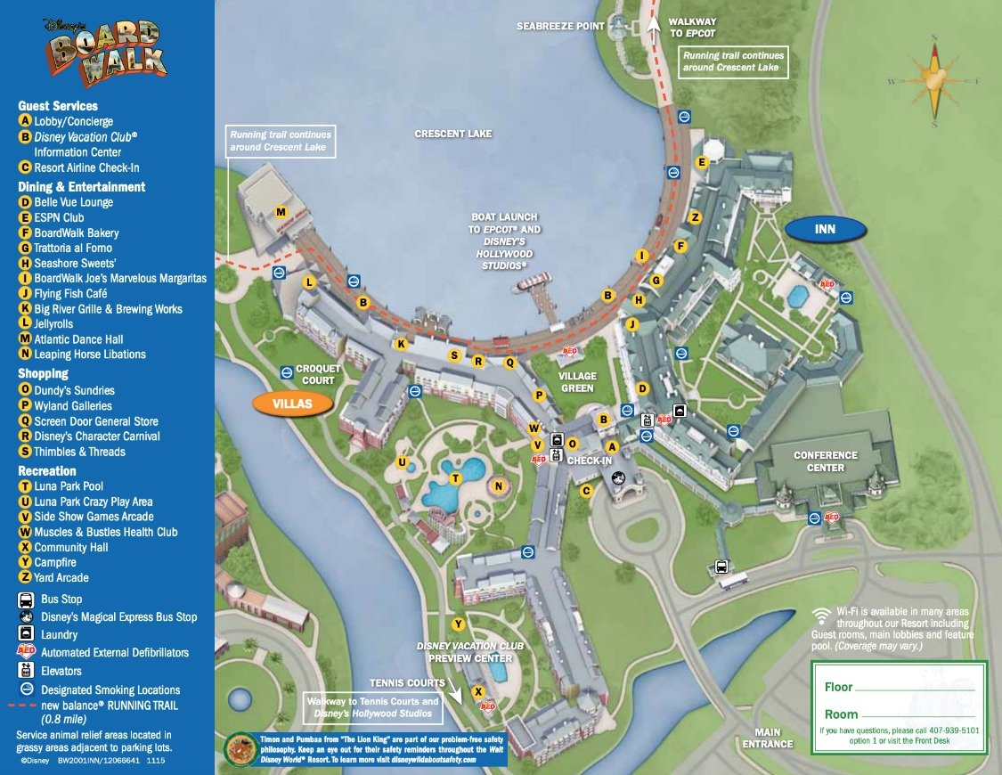 Disney's Boardwalk Resort Map - wdwinfo.com on