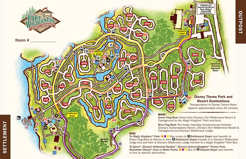 Disney's Fort Wilderness Campground map - wdwinfo.com on