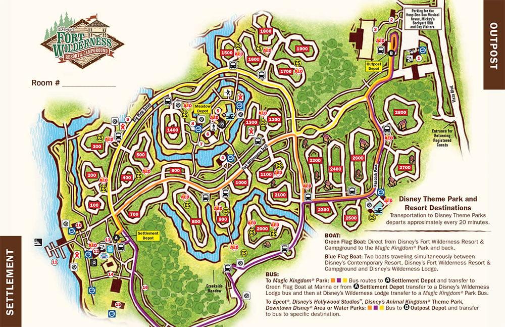 Disney\'s Fort Wilderness Campground map - wdwinfo.com
