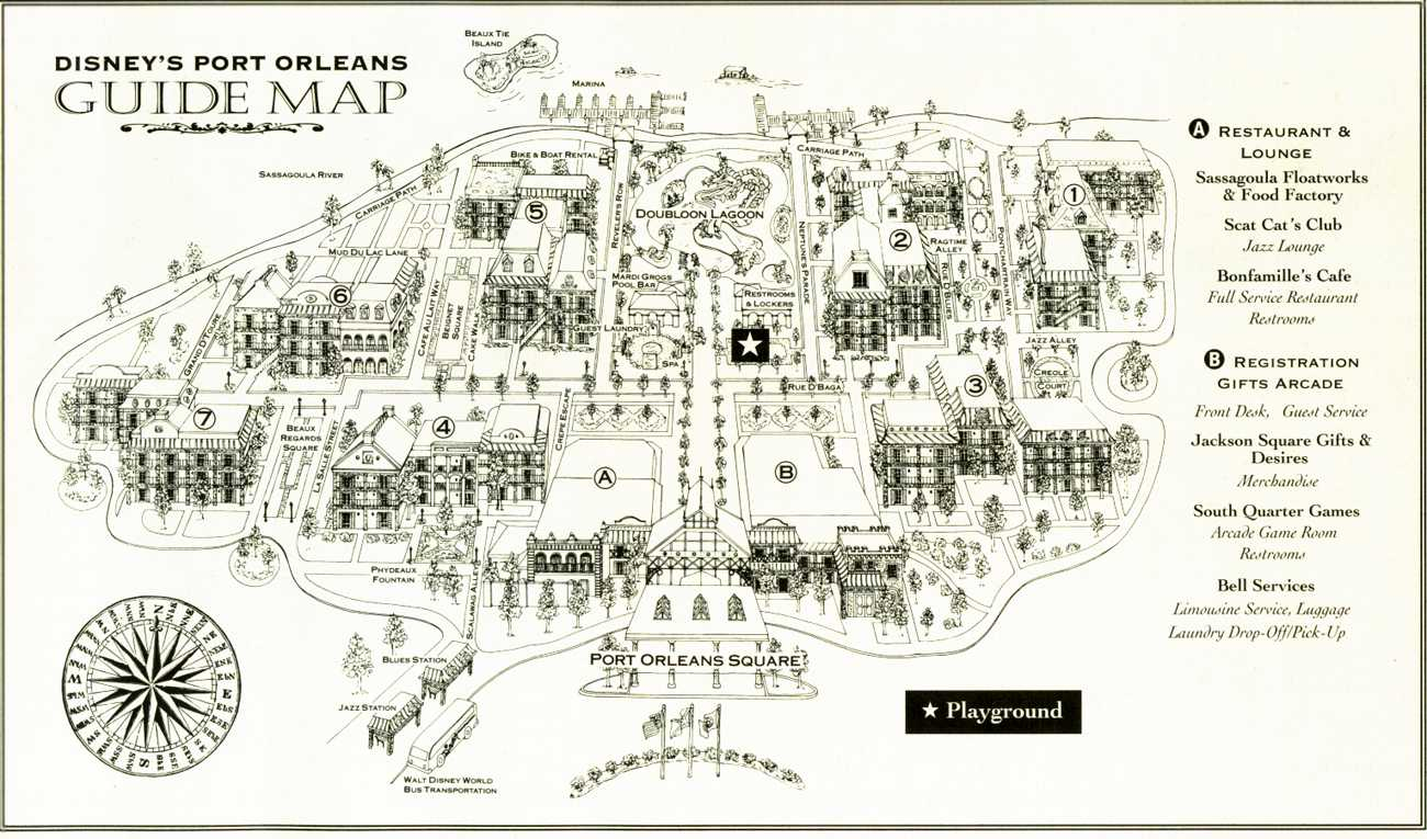 Disneys Port Orleans French Quarter map  wdwinfocom
