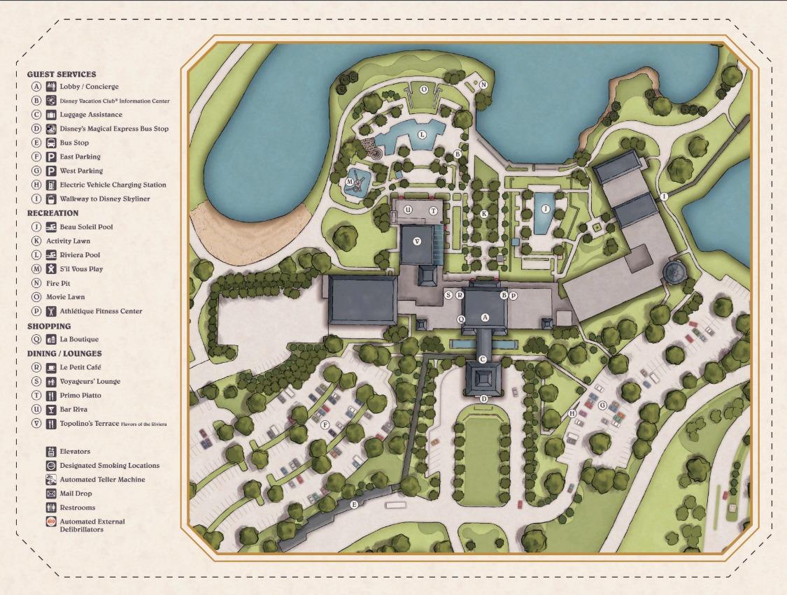 Disney\'s Riviera Resort map - wdwinfo.com