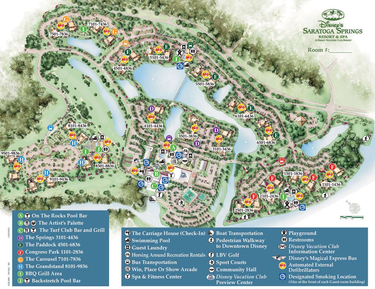 Saratoga Springs Resort Spa Map - wdwinfo.com