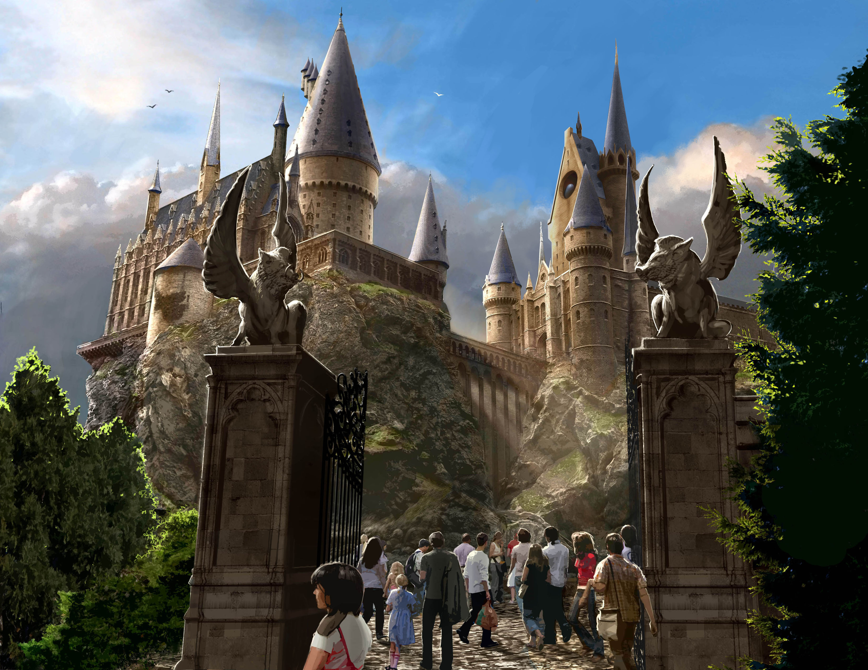 For Attractions Universal Confirmed That Hogwarts Castle Would House A Dark Ride Robocoaster Titled Harry Potter And The Forbidden Journey